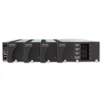 "Cordex 19"" Flush Mount Shelf, 4 x CXRC 24-400W Positions, CXCI HP controller and distribution 3L, 1B, LVDB"