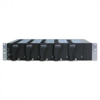 "Cordex 19"" Flush Mount Shelf, 5 x CXRC 24-400W Positions,  CXCI HP controller, Bulk Output"